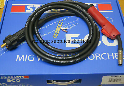 Eco Mig Euro Fitting Welding Welder Torch 15 MIG MB15 with 3 Metres Cable