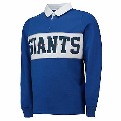NFL New York Giants Cut And Sew Rugby Shirt Royal Mens Fanatics Branded.