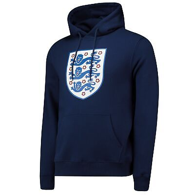 England Cricket Large Printed Crest Hoodie Navy Mens Fanatics