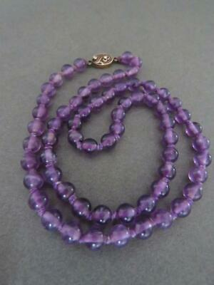 Vintage Chinese Amethyst Necklace Silver Filigree Clasp