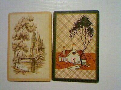 2 Single Swap/Playing Cards - Scene Buildings  at Water#