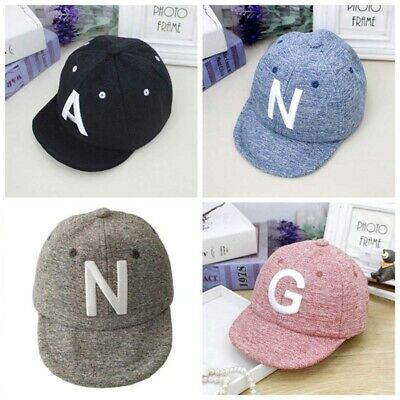 Toddler Kids Baby Boys Girls Baseball Cap Embroidery Cotton Snapback Sun Hat LF