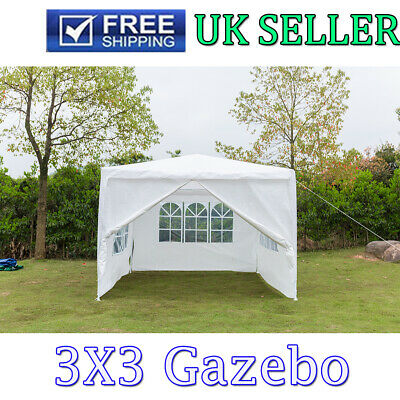 3Mx3M Green Gazebo Waterproof Marquee Canopy Garden Patio Wedding Party Tent