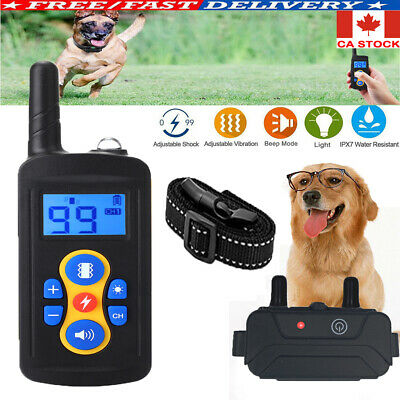 CA Dog Shock Collar w/ Remote Waterproof Electric For Large Pet Training NEW
