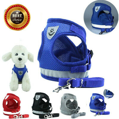 Cat Walking Harness and Lead Adjustable Reflective Strap Vest for Small Dog Pet