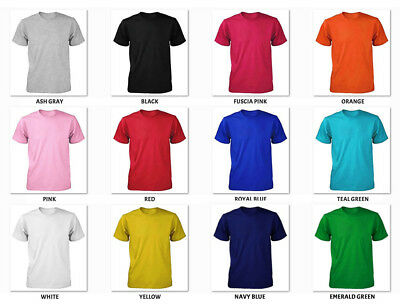 Boys Girls Children Kids T-Shirts Plain Round Neck T-Shirt PE School Uniform