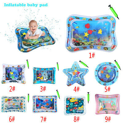 Inflatable Water Play Mat Set Infants Baby Toddlers Kid Perfect Fun Tummy Time