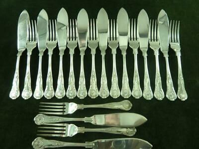 a nice Vintage 10 setting Ryals Fisheaters Set Silver Plated kings Pattern