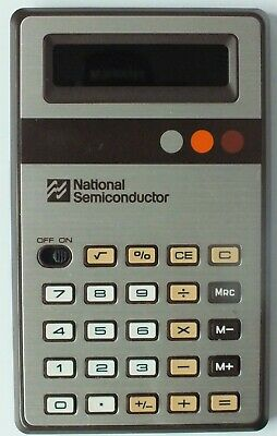 Vintage National Semiconductor Calculator With Case. Uk Dispatch..