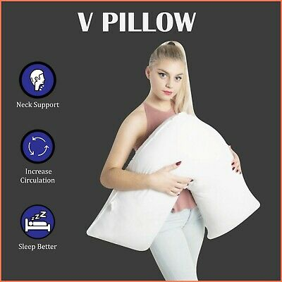 V Shaped Pillow - Pregnancy, Maternity & Orthopedic Back & Neck Support Cushion