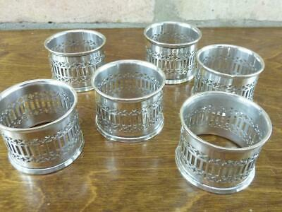 6 nice vintage Silver Plated round napkin rings good condition