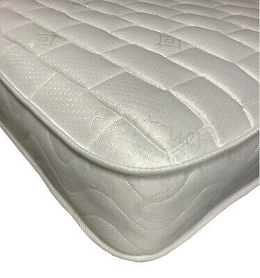 2ft6 Small Single Mattress, Quilted Memory Spring Mattress, 75 x 190cm FAST DEL