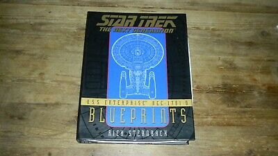 Star Trek: TNG U.S.S. Enterprise NCC-1701-D Blueprints 1996 Box - Rick Sternbach