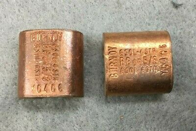 Burndy YC4C6 Cable Taps Compression Tap, Copper (Lot of 2)