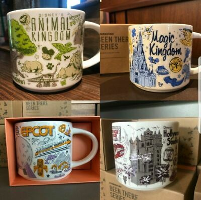 Starbucks Been There Series 2019 Set Of 4x All Parks Ceramic Coffee Mug Disney