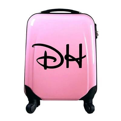 Personalised Kids Disney Inspired Initial Name Suitcase Luggage Sticker