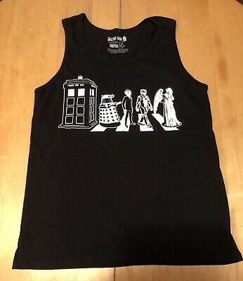 Authentic DR WHO Linear Tardis Vector Tank Top Shirt XL NEW