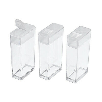 100 pcs Plastic Bead Storage Container Rectangle Clear Container Organizer Case