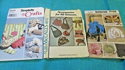 Lot McCalls 4613, Simplicity 9949, Butterick 3485 - Bags, Handbags & Accessories