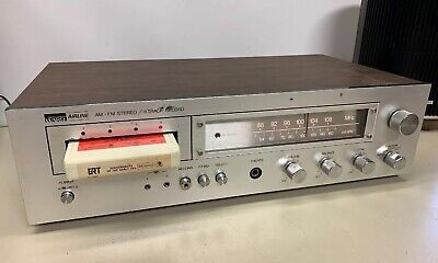 8 Track Recorder Player AM-FM Stereo Amplifier Wards Serviced See Video Demo