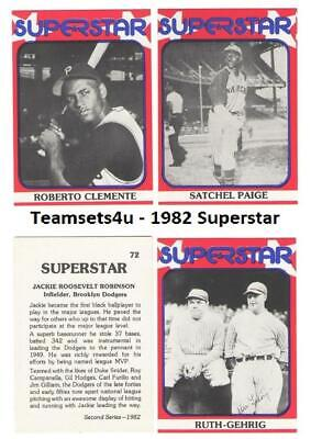 1982 SuperStar Baseball Set ** Pick Your Team ** See Checklist in Description
