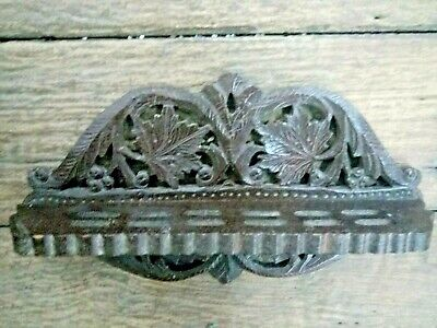 Old Antique Indian Vintage Hand Carved Wooden Hanging Spoon stand wall Hanging