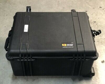PELICAN 1610 PROTECTOR BLACK WATERTIGHT HARD CASE w/ WHEELS + EXTENDABLE HANDLE