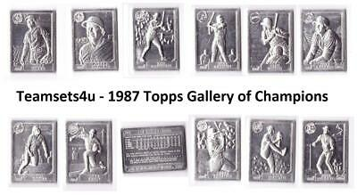1987 Topps Gallery of Champions Baseball Set ** Pick Your Team ** See Checklist