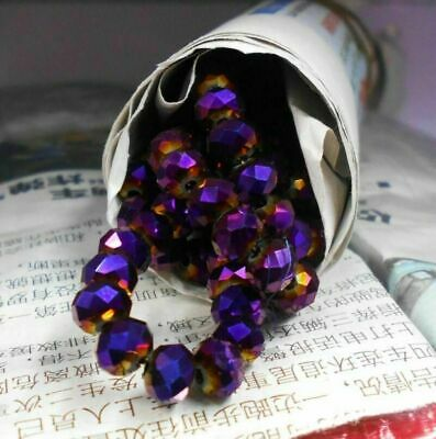 3*4mm Rondelle Faceted Crystal Glass Beads Loose Spacer For Jewelry Making