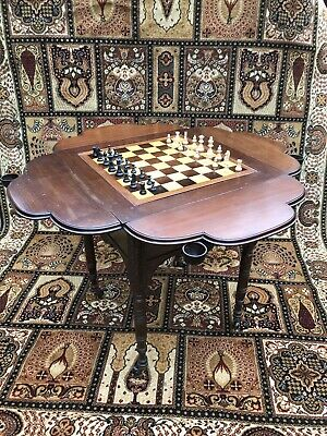 Art And Crafts Movement Carved Elm Games Table
