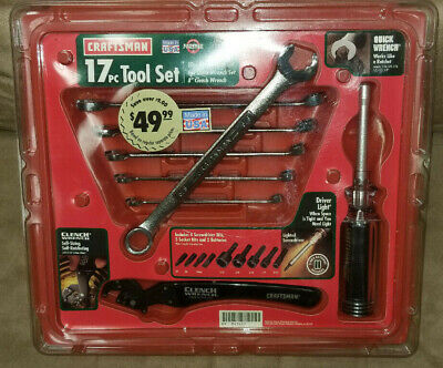 Craftsman 9-43417 Tool Set, 17 Piece Quick Wrenches Clench Wrench, Driver & Bits