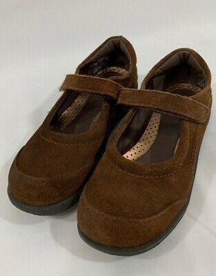 Girls Mary Jane School Shoes Clarks Lecture Brown E Fitting Size 11-13.5