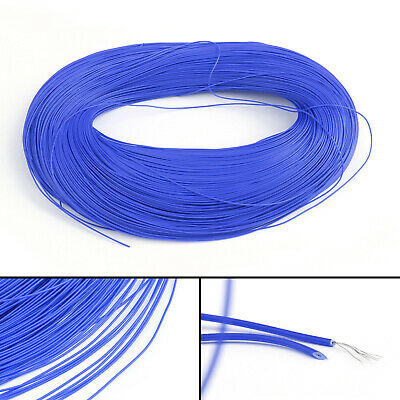 20M Blue Flexible Stranded UL1007 28AWG Electronic Wire PVC Cable 300V ROHs CA