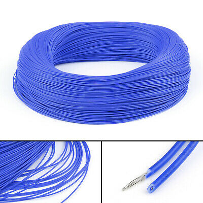 20M Blue Flexible Stranded UL1007 26AWG Electronic Wire PVC Cable 300V ROHs CA