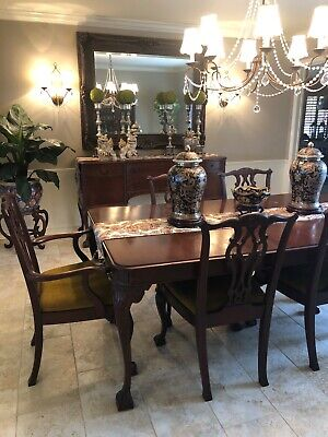 Antique Mahogany Chippendale Dining Suite, excellent condition