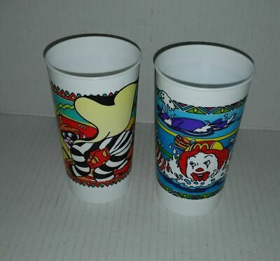 2 x McDonalds promotional plastic cups 2000 Olympics Sydney Swimming & Cycling