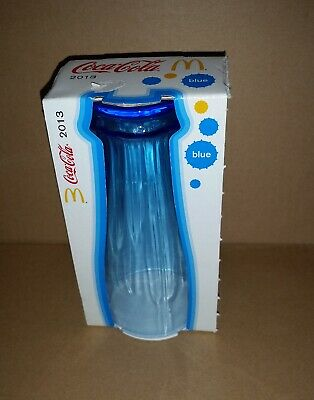 BLUE Coke Coca Cola 2013 contour shaped glass 340 ml still in packaging