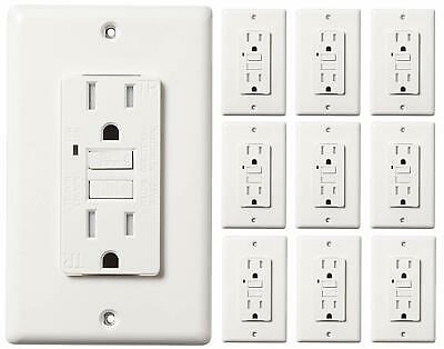 15 AMP GFCI (GFI) Receptacle Outlet -TAMPER RESISTANT WR -WHITE UL GFCI (10PACK)