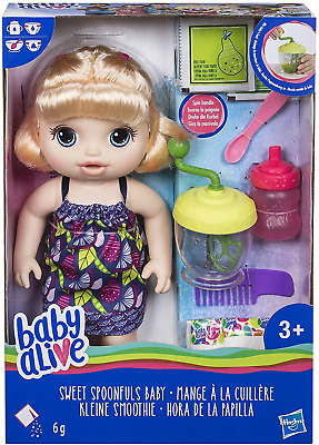 Baby Alive Sweet Spoonfuls Blonde Baby Doll Girl Drinks Eats Poops and Pees