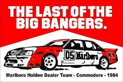 Peter Brock marlboro HDT 05 Commodore tin metal sign MAN CAVE brand new