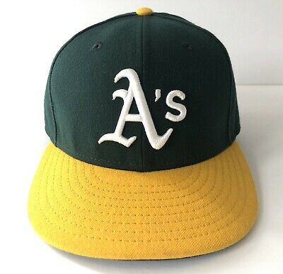 new style d6b5e 8a53a Oakland Athletics Hat Cap New Era MLB On Field Authentic 59FIFTY Fitted 7  1 8