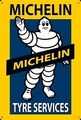 Michelin Man tyres tyre service tin metal sign MAN CAVE brand new