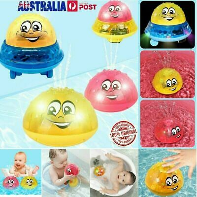 Infant kids Electric Induction Spray Ball Light Bathroom Play Water Bath Toy S4