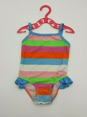 Baby Girl Clothes 6-9 Months Miniclub Stripy Pink Mix Summer Swimming Swimwear