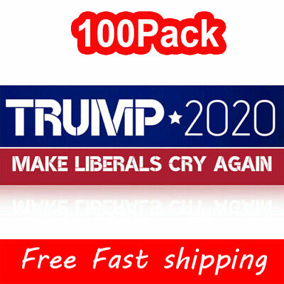 100Pack Donald Trump 2020 Bumper Sticker President 2020 Make Liberals Cry Again