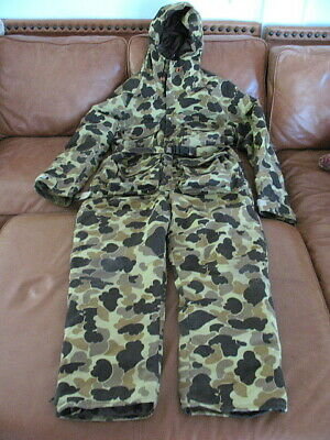 78617b1f3b090 Vintage Cabela's Camo Gore-Tex Hunting Suit Thinsulate Made In Usa Size  Large