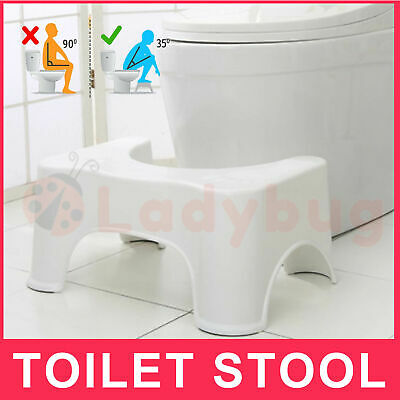 Sit and Squat Squatty Potty Stool ECO NON-SLIP Toilet Stools Healthy 1X 2X AU