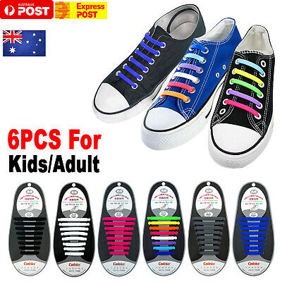 Easy Lazy No Tie Elastic Silicone Shoe Laces Shoelaces Guy Unisex Adults Kids