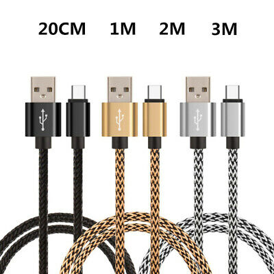 For Samsung A70 A50 A40 S10 Strong Braided Type-C USB C Data Sync Charger Cable