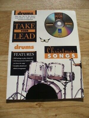 Take The Lead Christmas Songs for Drums (Sheet Music & CD 1999) 8 Tunes (VGC)